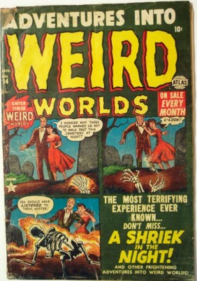 Adventures into weird worlds vintage stripboek cover