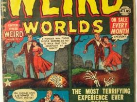 Adventures into weird worlds vintage stripboek cover