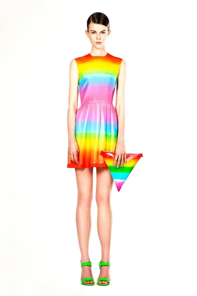 Regenboog clutch Christopher Kane Resort 2012