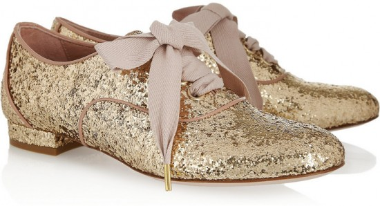 DIY inspiratie Red Valentino Glitter Finish veterschoen