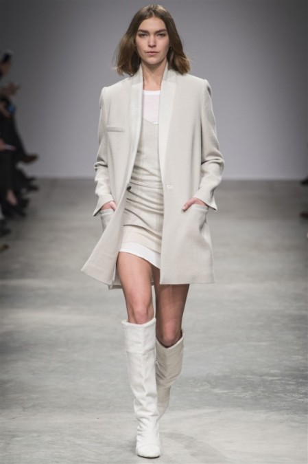 Isabel Marant Fall Winter 2013 long cream coloured blazer