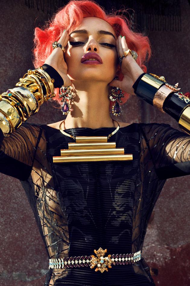 Luma Grothe op de cover van L'Edition SS2012