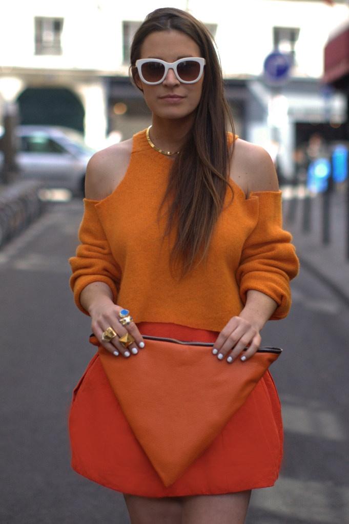 | STREETSTYLE DIY: Oranje trui zonder schouders