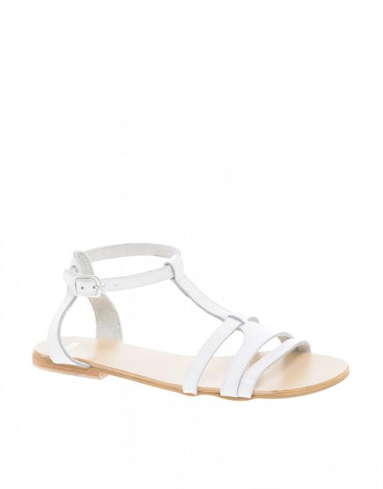 ASOS Florence sandaal in wit leer