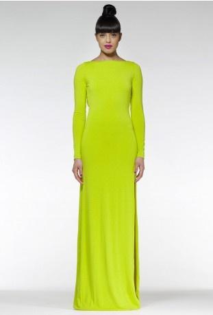 Verslaafd aan AQ AQ Maxi jurk patroon #1: aqua by aqua hutch maxi jurk lime