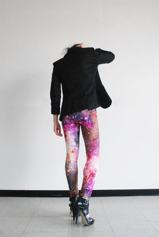 roze Galaxy Leggings van Mitmunk
