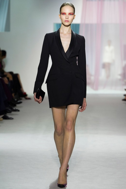 Christian Dior Spring Summer 2013 zwarte blazer als jurk