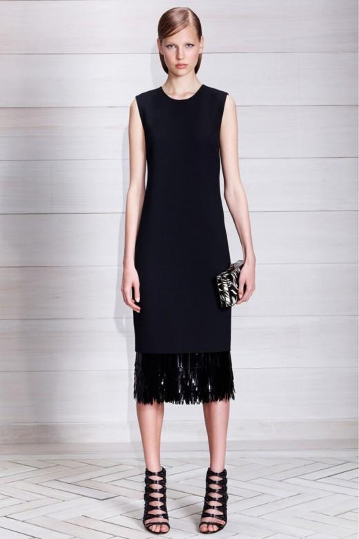 Jason Wu Resort 2014 sheath jurk met pailleten franjes zoom