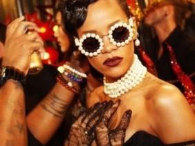 Rihanna Chanel vintage pearl sunglasses