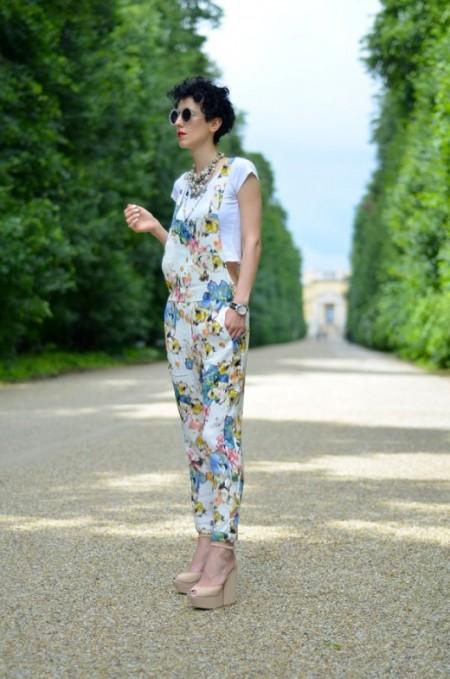Zara bloemenprint tuinbroek Borjana Beeswonderland