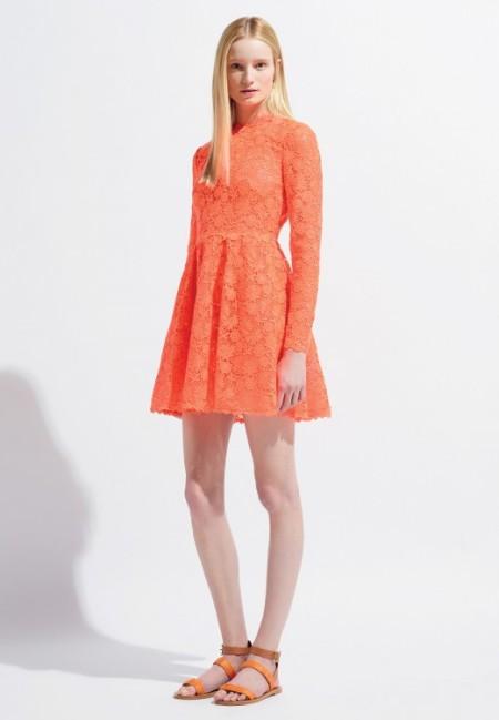Valentino Resort 2014 kanten jurkje met lange mouwen