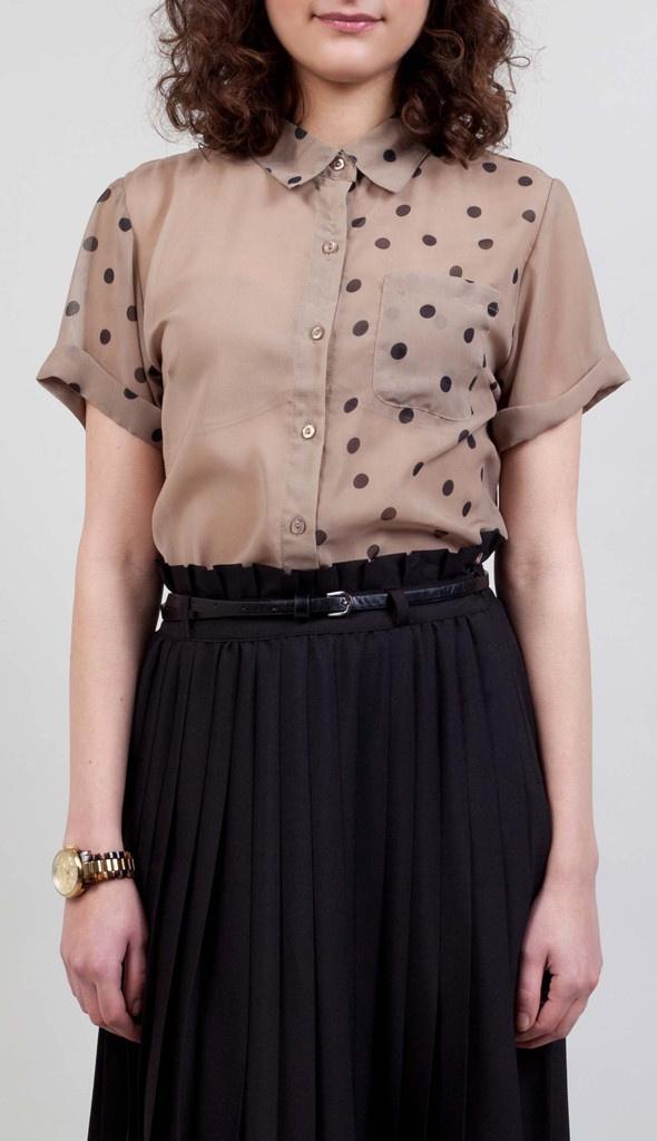 HIGH ON DIY | Fancy French Cologne blouse met en zonder stippen