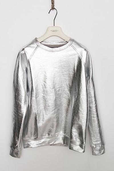 HIGH ON DIY | Zilveren sweater