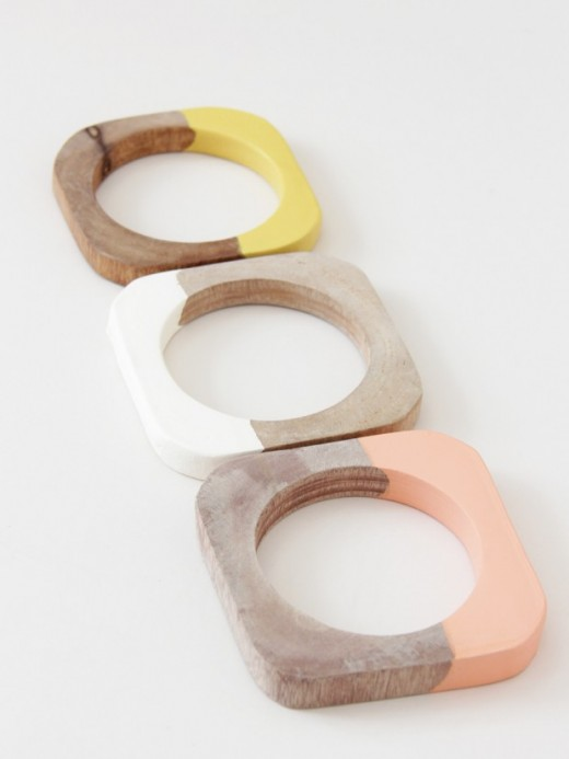 Cold Picnic houten armbanden dip dye