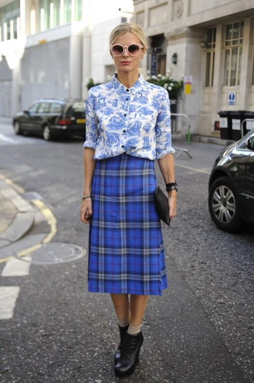 toile print blouse