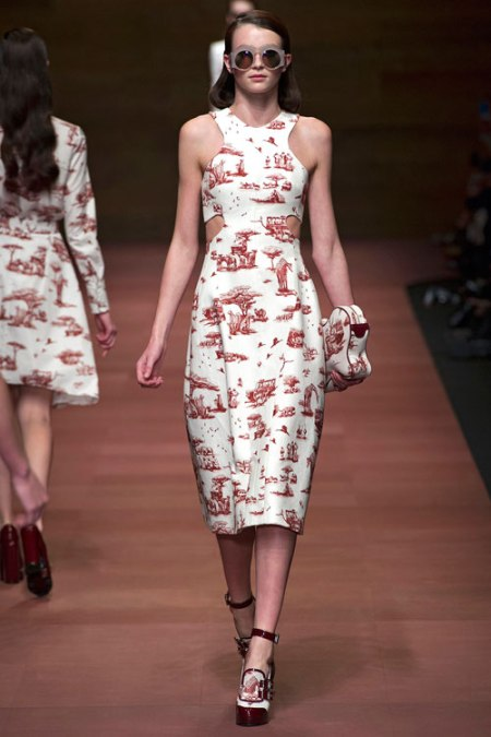 Carven SS13 safari toile dress cut out