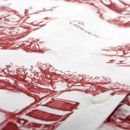 Donkerrood safari toile print Carven