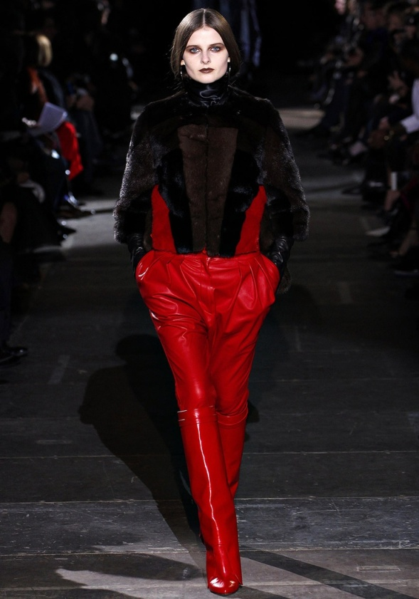 Givenchy Fall 2012 rode leren laarzen