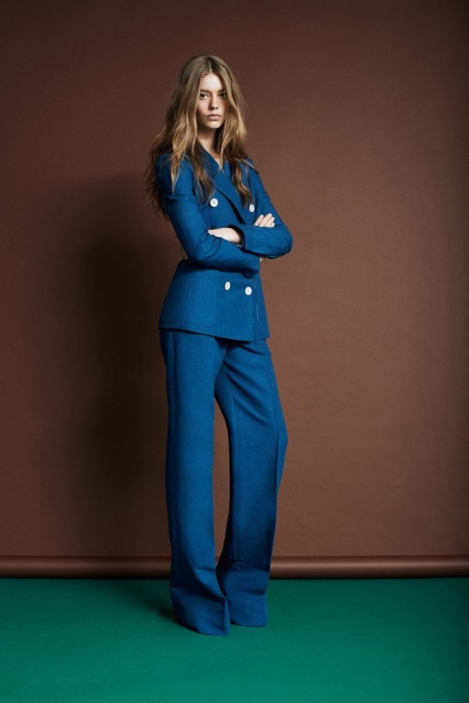 Louis Vuitton resort 2014 70s blauw pak