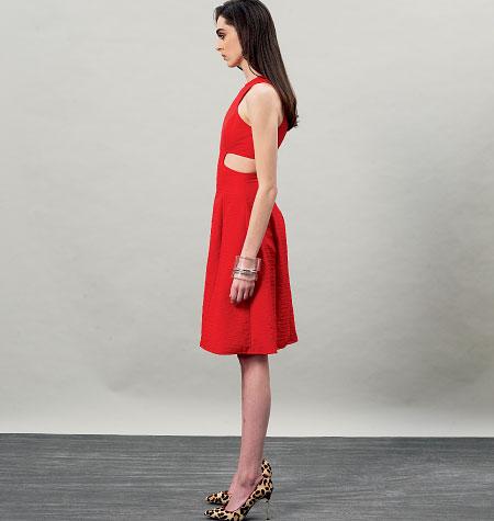 V8900 zijkant Vogue Patterns cut out jurk