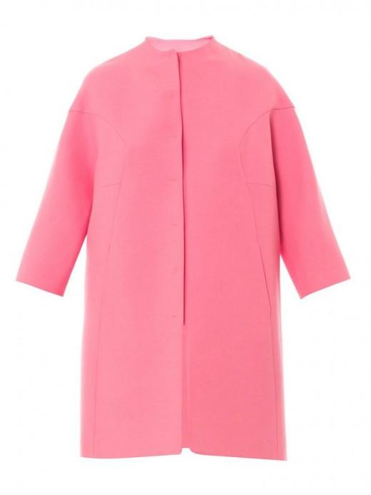 Valentino Resort 2014 cocoon coat roze