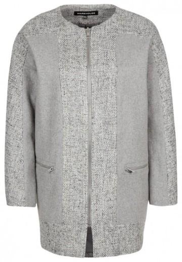 Warehouse cocoon coat grijs