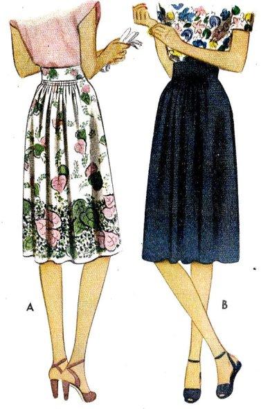 Vintage Naaipatroon: McCall 5977  1940s Misses Skirt