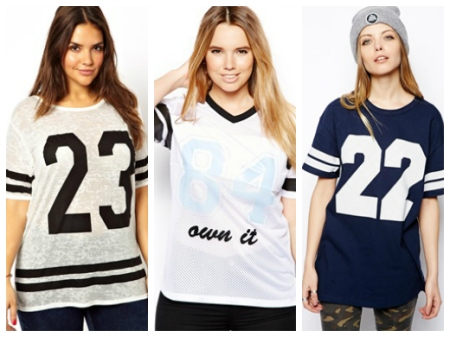 Baseball number t-shirts ASOS