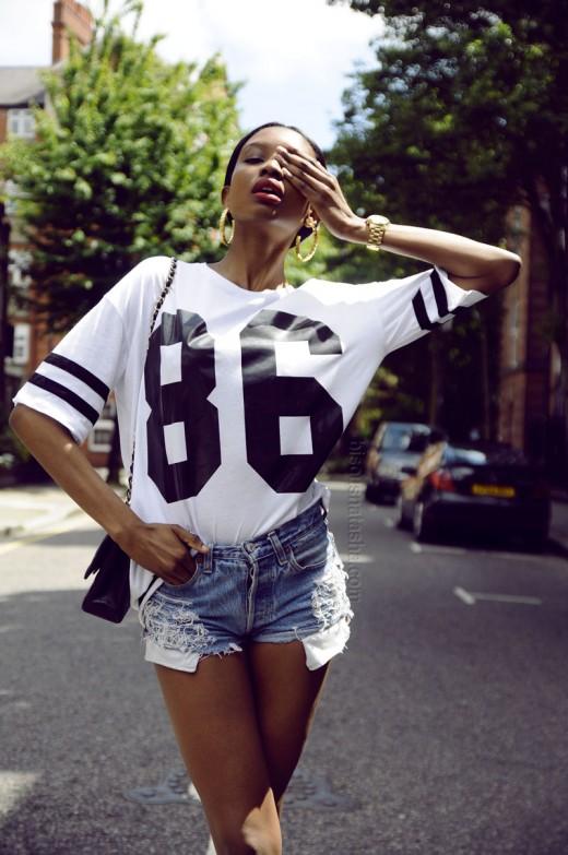 Bisous Natasha Topshop Number 86 Tee white