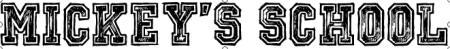 Mickey s School Font   dafont.com