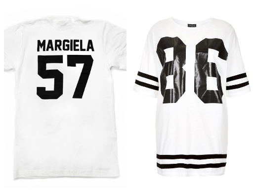Topshop Number 86 tee LPD New York Team Margiela t-shirt