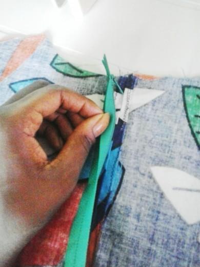 Rits naaien op naad bovenlijfje