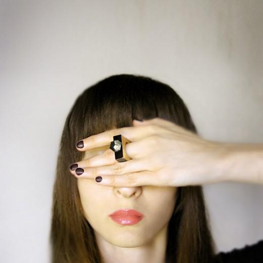 Abakadabra Jewelry gemstone geometric wooden ring