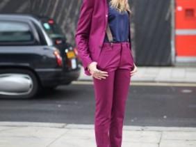 Becca Dudley Topshop Topman purple suit