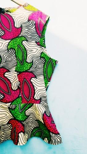 DIY peplum top met Afrikaanse print | ADDICTEDTODIY