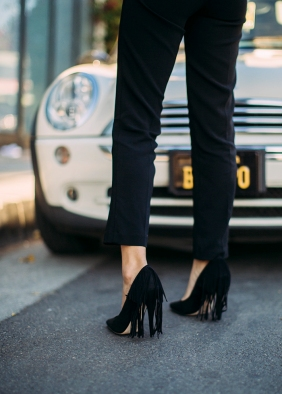 Song of Style Topshop fringe court shoes