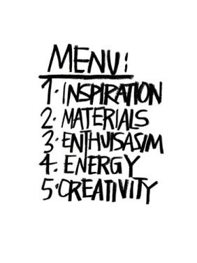 Stephen Anthony Davids menu print