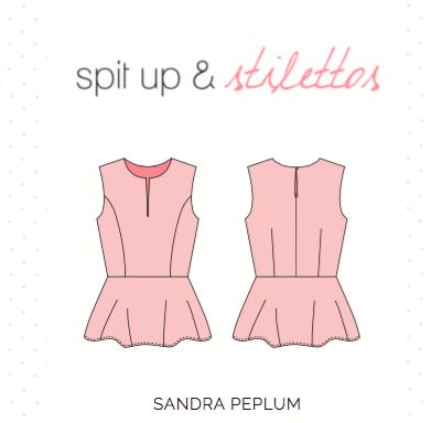 Spit Up & Stilettos Sandra peplum